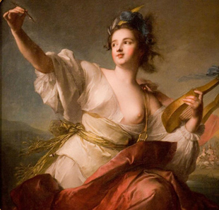 Terpsichore was the Muse of Dance and the Chorus - painting by by Jean-Marc Nattier (1739)