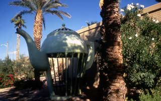 Wall Cycle to Ocotillo: public art: Giant Teapot