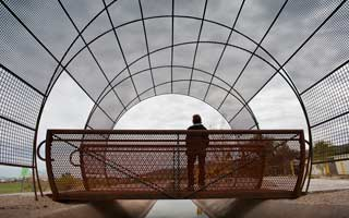 The Zanjero's Line: public art by Mags Harries and Lajos Héder along the Highline Canal in Phoenix, AZ