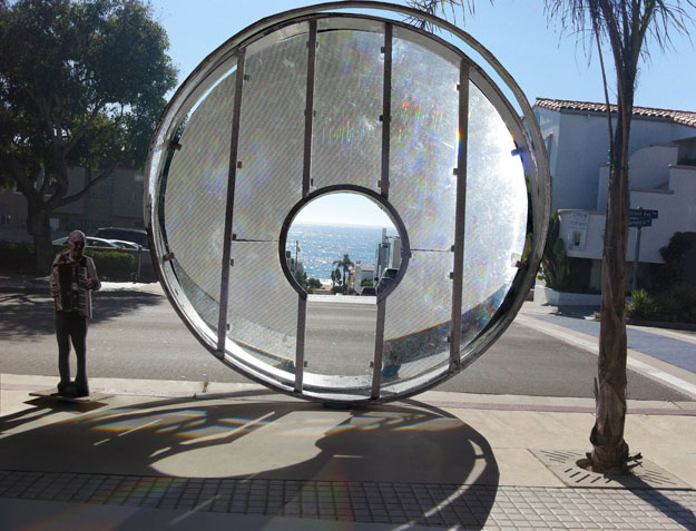 Depiction of the LightGate, a public art commssion for Manhattan Beach, CA.