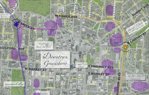 Greensboro Downtown Economic Development Plan Map